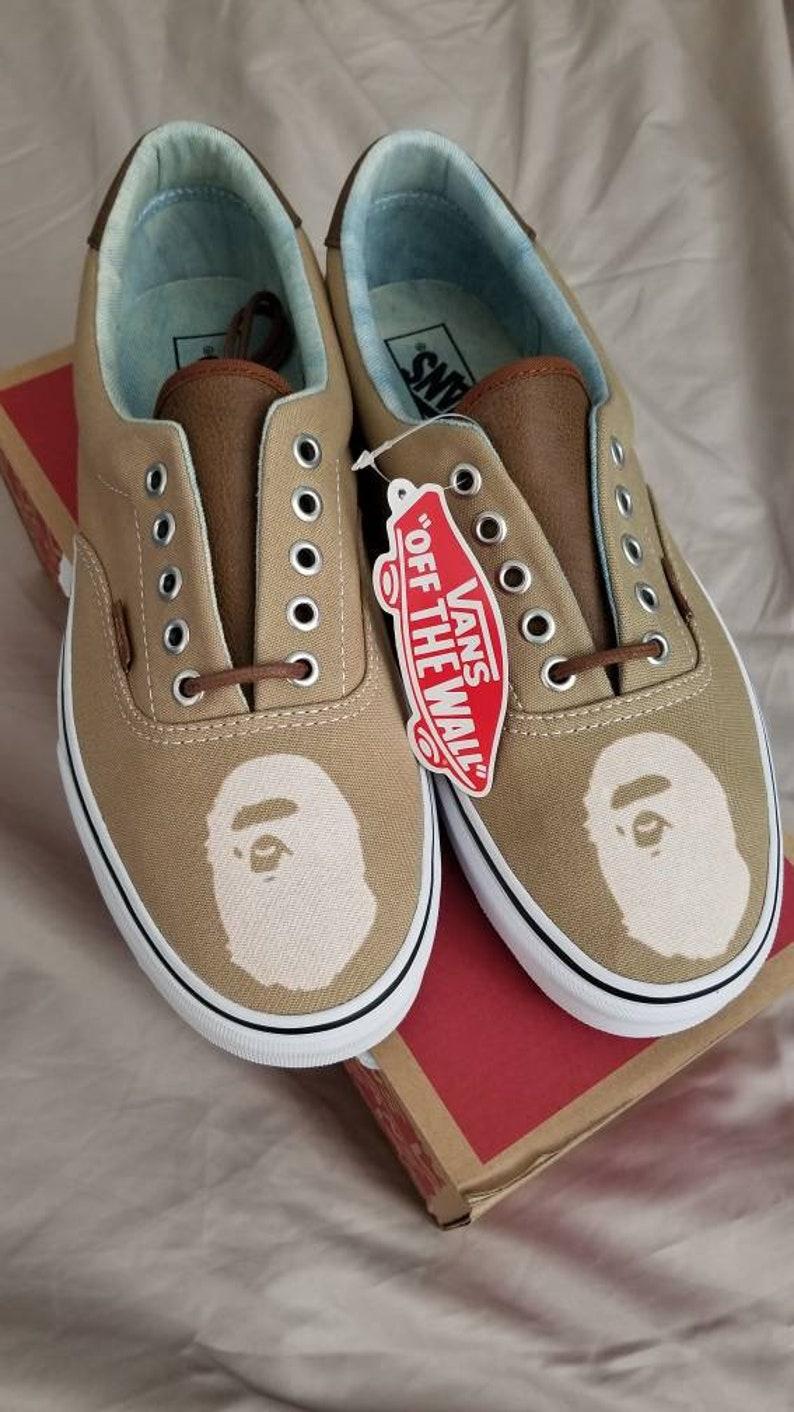 New Custom Vans Bape Ape Old Skool Era Supreme FOG School Bape  7fac9f168