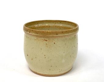 Small Yellow Ceramic Planter