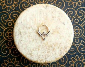 Silver septum ring, Fake Septum Ring, Septum Cuff, Tragus, Helix, Cartilage Earring, Tribal Septum, silver septum,  Body Jewelry Fake septum