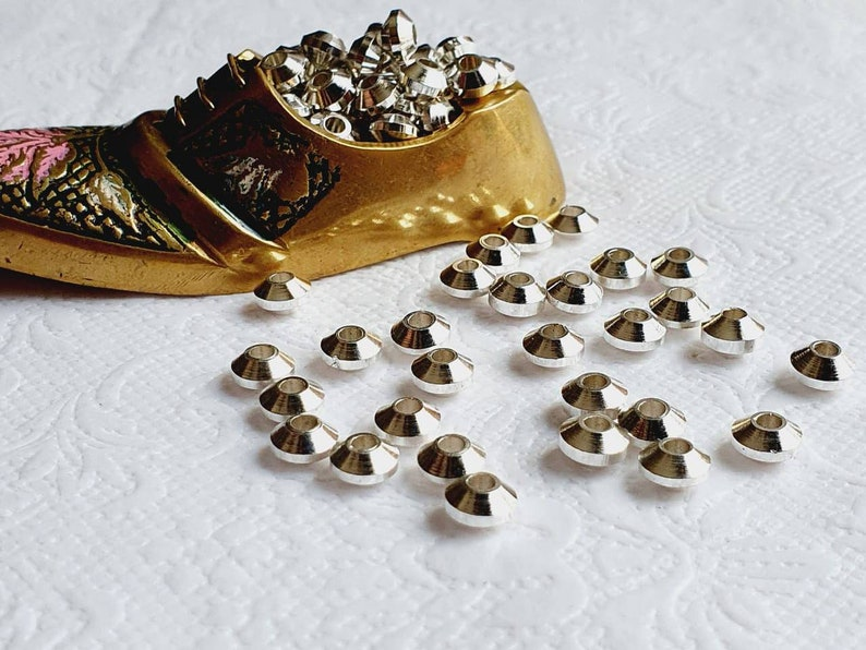Donut Silver filled Brass beads Macrame Jewelry making beads tyre BS132 103050PCS Silver beads Brass Beads Small Beads Metal beads