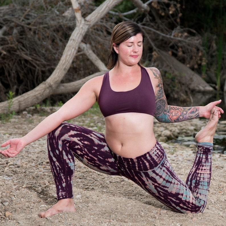 9efc70c352 Plum Baru Sports Bra by Lotus Tribe Clothing/Yoga Bra/Purple | Etsy