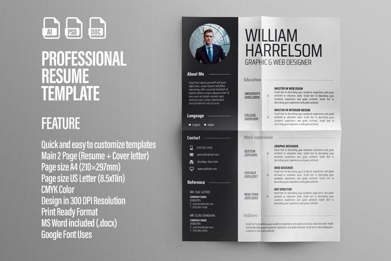 Modern Resume Template CV Cover Letter