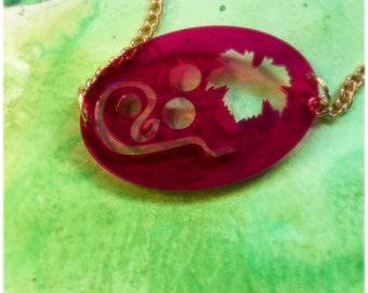 Statement Pink Vineyard Necklace