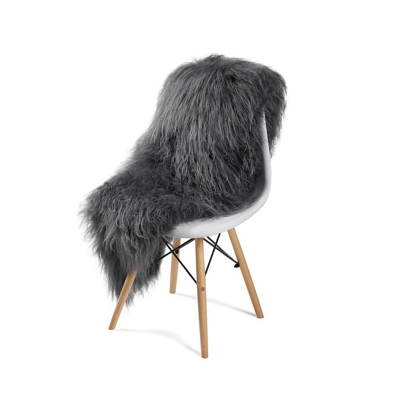 Large Icelandic Sheepskin Rug Luxury Grey or White FREE image 0