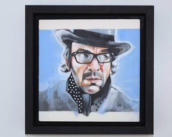 Elvis Costello Framed Oil Study Painting 2018