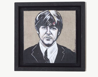 Paul McCartney Framed Original Illustration 2018