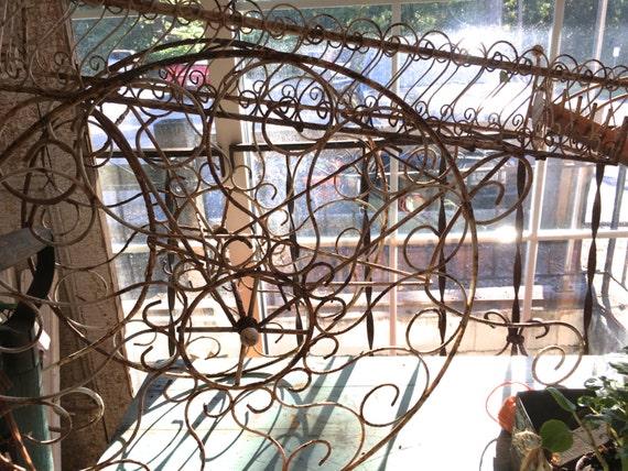 Vintage metal flower flower cart
