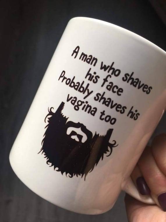 ADULT Gift For Him Birthday Gifts Men Beard Mug