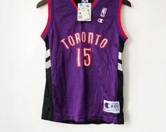 404ac5a85 vintage vince carter toronto raptors champion jersey boys size medium 10 12  deadstock NWT 90s