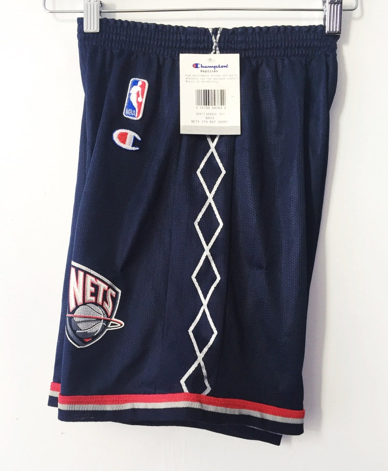 3d718a85af9 Vintage new jersey nets deadstock champion shorts boys size   Etsy