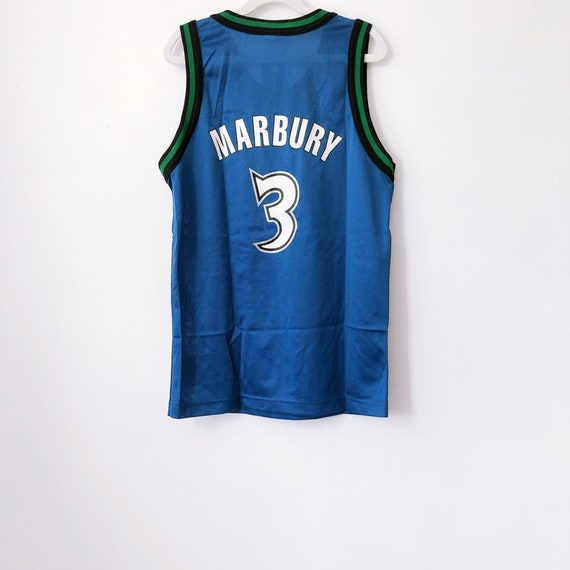 official photos d087b 73071 vintage stephon marbury minnesota timberwolves champion jersey youth size  medium 10-12 deadstock NWT 90s