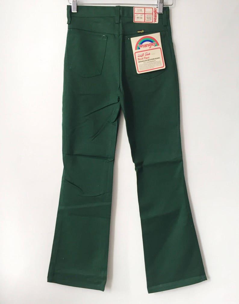 cc35fdeb Vintage wrangler boy's slim hunter green boot flare | Etsy
