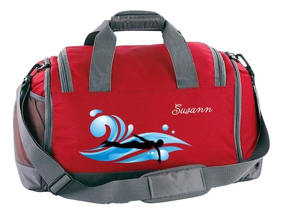 Multi Sporttasche inkl. Schuhfach mit Namen und Schwimmer