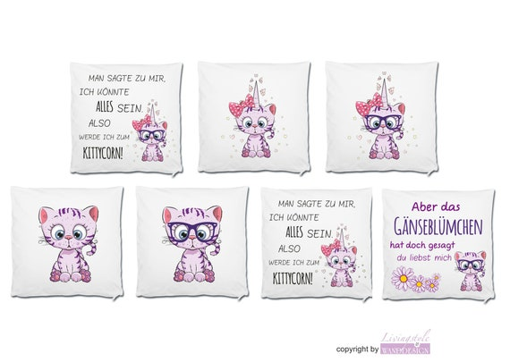 Pillow Filling Cushion Unicorn Kittycorn Etsy