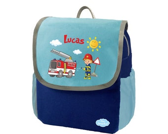 Nursery Backpack Happy Knirps NEXT Blue Fire Brigade