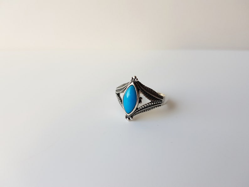 turquoise jewellery vintage silver ring size 10 Vintage Silver Turquoise Ring december birthstone ring