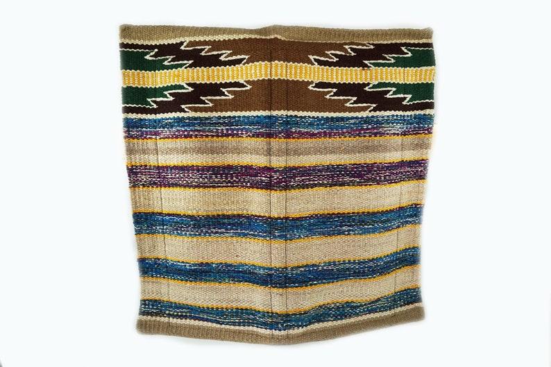 1 Of A Kind Hand Loomed Wool western Trail Barrel Show Horse Tack Blanket Rug Pad 34x36