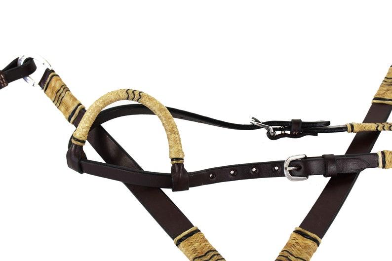 Western Barrel Horse Handmade  Tack One ear Hermann Oaks Leather Trail Show Bridle Headstall Breast Collar Set