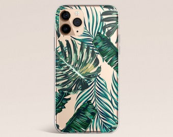 iPhone 11 Case, Palm Leaves, iPhone X Case, iPhone XR Case, Clear Case, Galaxy Case, iPhone 8 Case, iPhone 8 Plus Case, Tropical Palms, Case