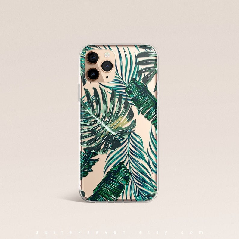 iPhone 11 Case Palm Leaves iPhone X Case iPhone XR Case image 0
