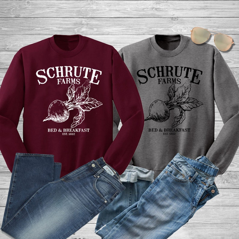 b405547dd Schrute Farms Sweatshirt. Schrute Farms Bed and Breakfast   Etsy