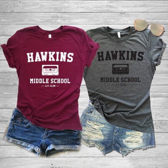 Hawkins Middle School Shirt Hawkins Middle School Av Club Etsy