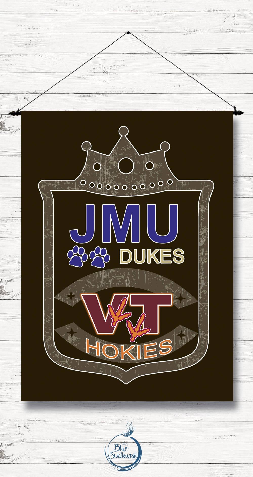 House Flag Garden Flag JMU VT College Rivalries   Etsy