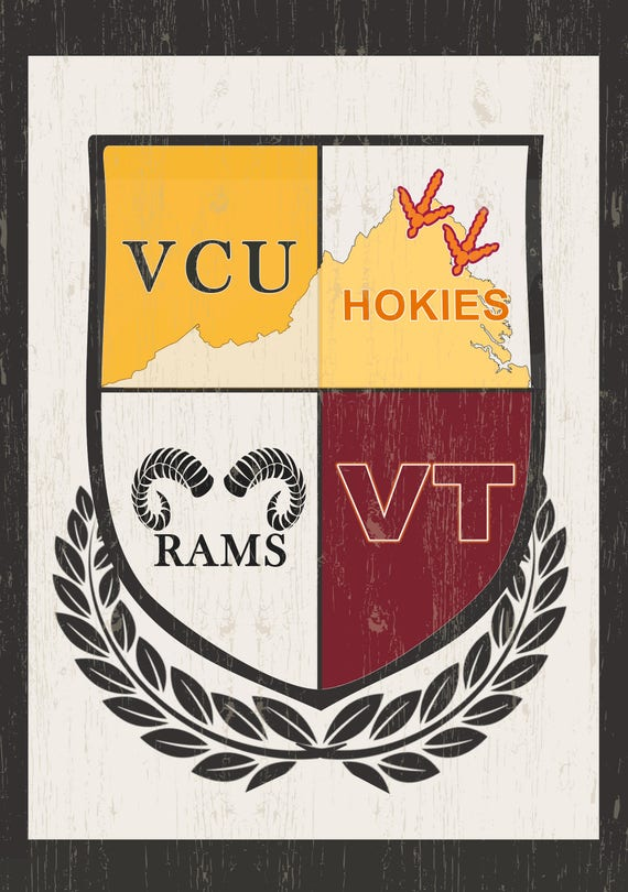 Custom Personalized House/Garden Flag VCU Virginia Tech | Etsy