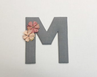 XL fabric letters, with or without flowers as desired, 18 cm (door letters, name letters) for the children's room