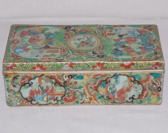 Early rose medallion brush box
