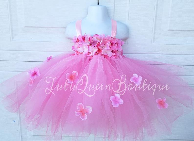 a85fd8bf8 Pink Light Pink Tutu Dress Baby Toddler Girl Birthday Dress | Etsy