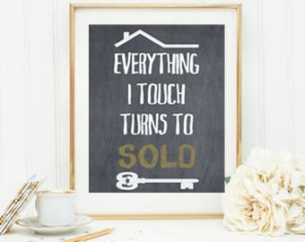 Real Estate Agent Decor, Realtor Decor, Realtor Gift, Gift For Realtor, Realtor Closing Gift, Real Estate Gift, Real Estate Agent Gift