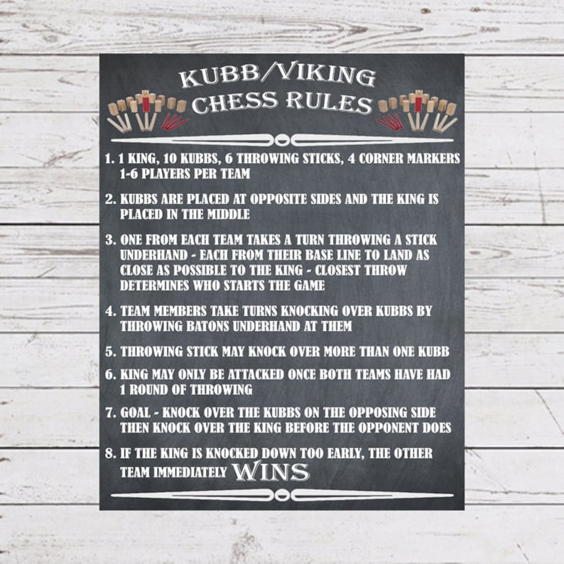 graphic relating to Kubb Rules Printable identified as Garden Game titles, Kubb Viking Chess Indicator, Kubb Regulations Guidance, Outside Social gathering Game titles, Back garden Signs and symptoms, Wedding ceremony Garden Online games, Backyard garden Online games