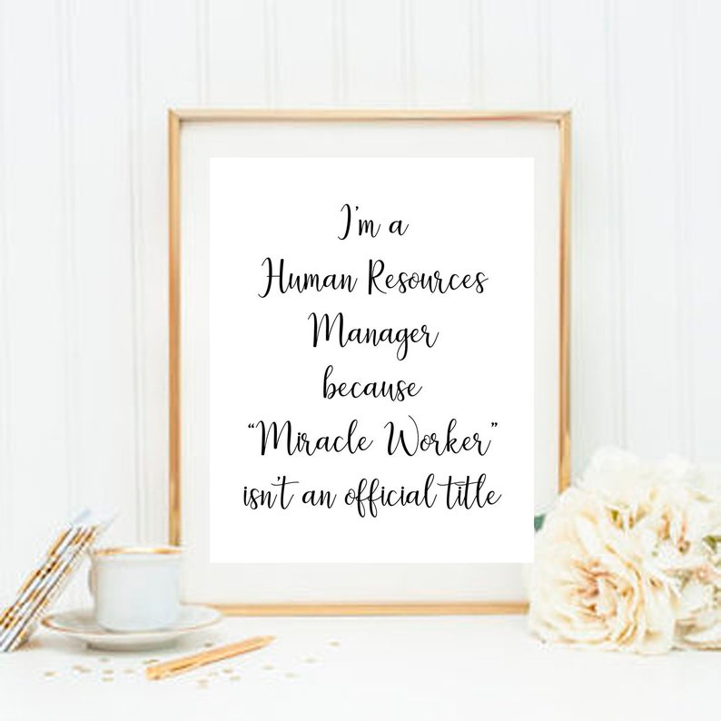 Human Resources Manager HR Sign Human Resources Gift HR gift Photo Prop HR  Photo Prop Printable Instant Download Digital File