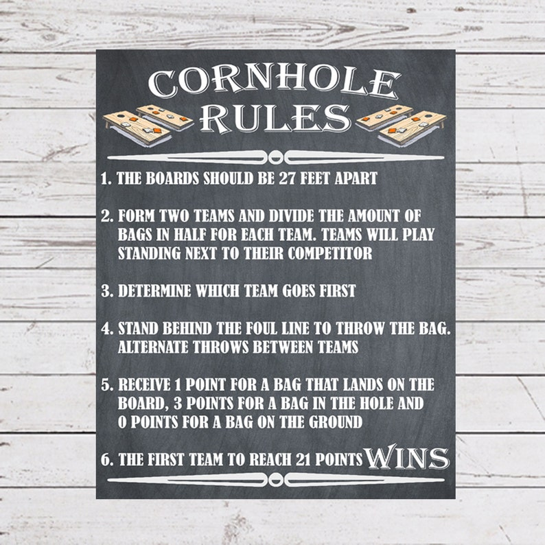 image about Printable Cornhole Rules called Garden Video games, Cornhole Signal Poster, Cornhole Laws, Out of doors Bash Online games, Backyard garden Symptoms, Marriage ceremony Garden Online games, Marriage ceremony Game titles, Garden Video games