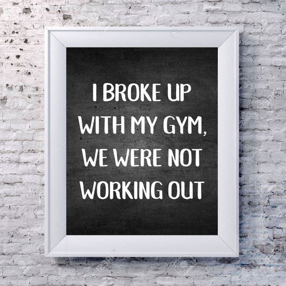 Funny Gym Quotes | Gym Quotes Gym Poster Fitness Quote Funny Gym Quote Gym Etsy