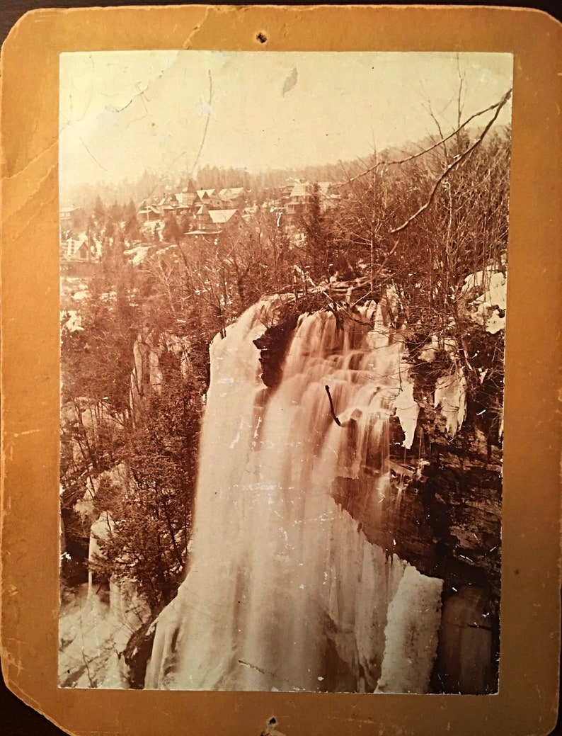 Catskill Mountains Circa 1900 Haines Falls and Twilight Park New York New York Catskill Memorabilia Vintage Antique Cabinet Photo