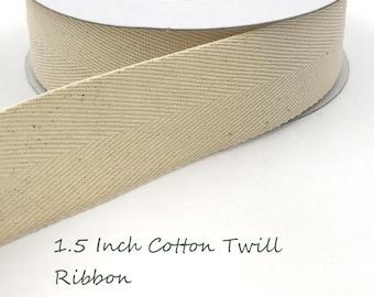 "Black 1.5"" Twill Ribbon 5 Yds."