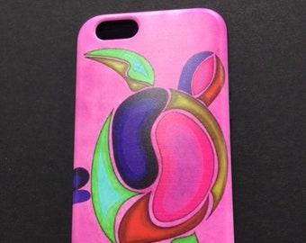 Pink Turtle Art iPhone Case