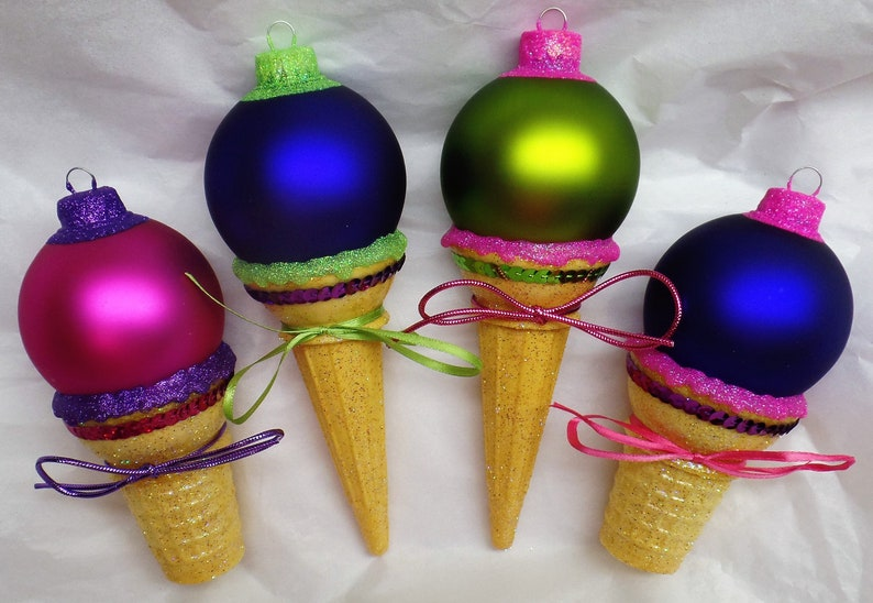 WILD TWO-TONED Combo Personalized Ice Cream Cone Christmas Purple Sh w/NeonPink