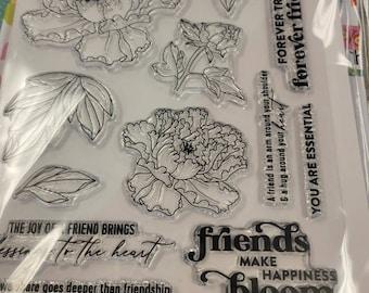 Pink.Fresh Friendship Blooms- art stamp