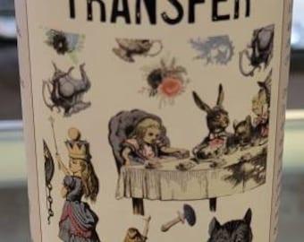 Belles and whistled Tranfer Alice Wonderland - Decor Transfer- ephemera