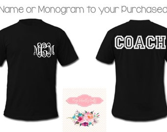 Add Name or Monogram To Your Purchased Order