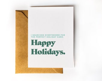 Funny Christmas Card | Funny Holiday Card | Christmas Card Pack | Holiday Card for Friend | Searching for the Perfect Holiday Card