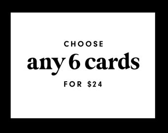 Mix and Match Greeting Cards Set | Choose Any 6 Cards Greeting Card Bundle