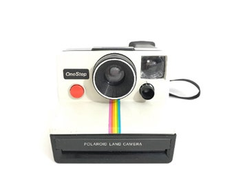 Vintage Polaroid Land Camera SX-70 Film Instant Camera 1970s Rainbow Stripe Clean Tested Classic