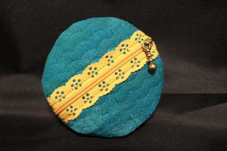 Vintage Floral Coin Pouch Blue