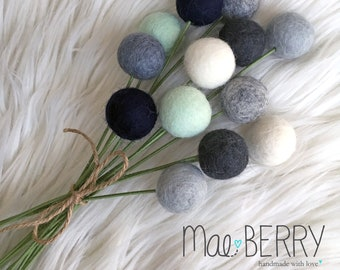 Rainy Days Billy Ball Bouquet - Home Decor - Table Decor - Felt Balls - Home Accessories -Bedroom Furnishing -No Water Flowers