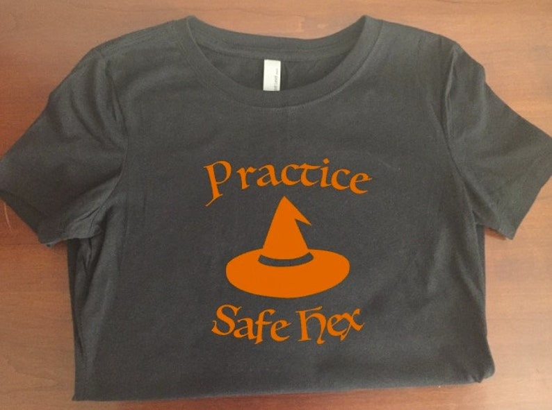 ae233991e40d Practice Safe Hex Halloween T-Shirt | Etsy