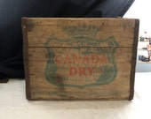 Vintage Canada Dry Wooden Crate - Antique Advertising Bottle Crate - Wooden Soda Bottle Crate